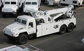 六驱越野卡车(6×6全驱)带中央充放气的制动原理图
