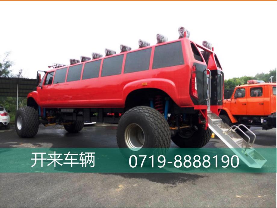 开来沙漠观光车,钻石红的热情,阔气的沙漠大轮胎。
